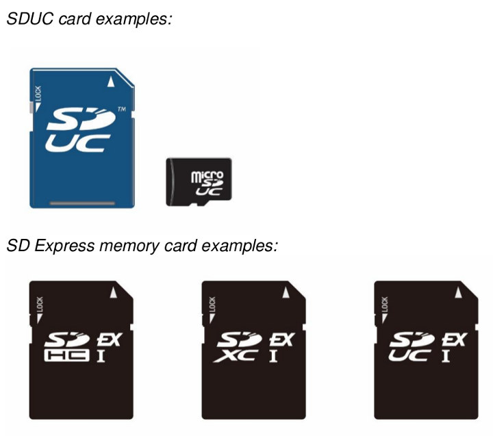 SD Express / SDUC Markings