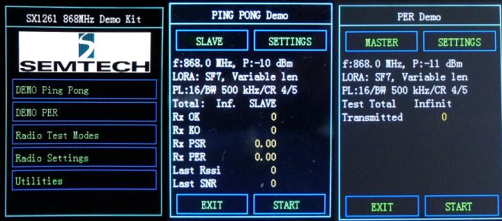 SX1261 Demo Programs