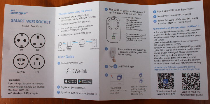 Sonoff S26 User Manual