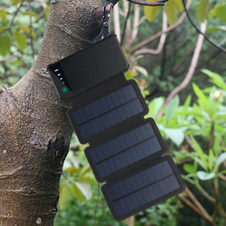 Tri-Panel Waterproof Solar Power Bank
