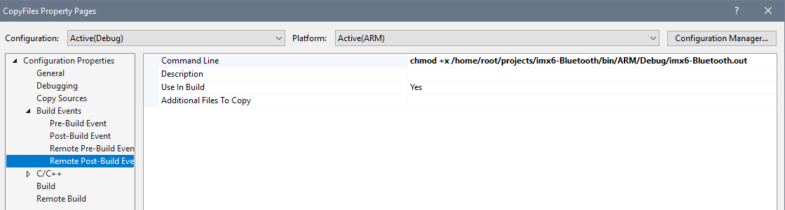 visual-studio-arm-binary-permissions