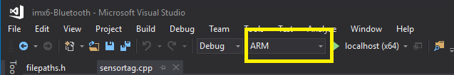 visual-studio-arm-platform