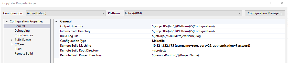 visual-studio-general-apge-project-properties