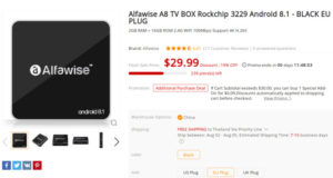 Alfawise A8 Cheap Android Oreo TV Box