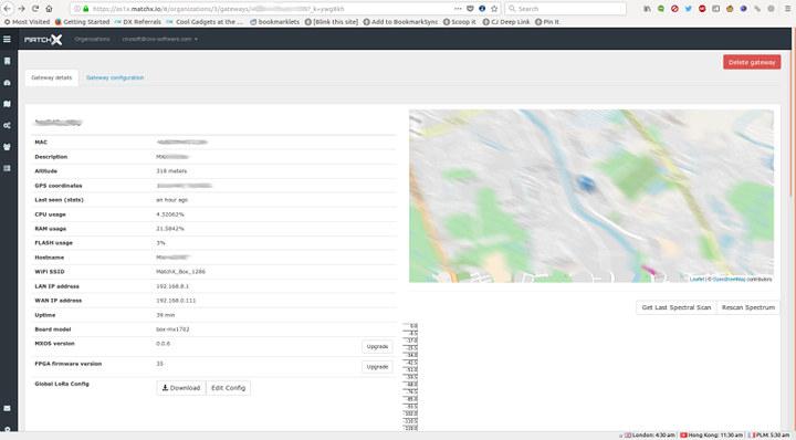 MatchBox LoRa Gateway Setup / Dashboard