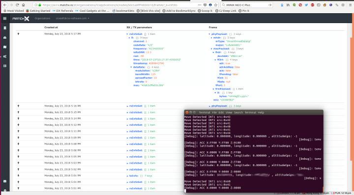 MatchX LoRa Gateway RAK811 Data