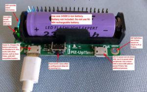 Pi-Zero-UpTime UPS for Raspberry Pi