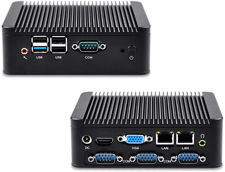 Qotom Q180P Mini PC Four COM Ports