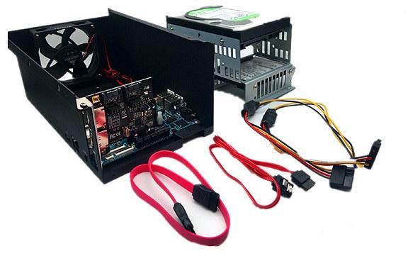 ROCKPro64 Dual SATA Drive NAS Kit