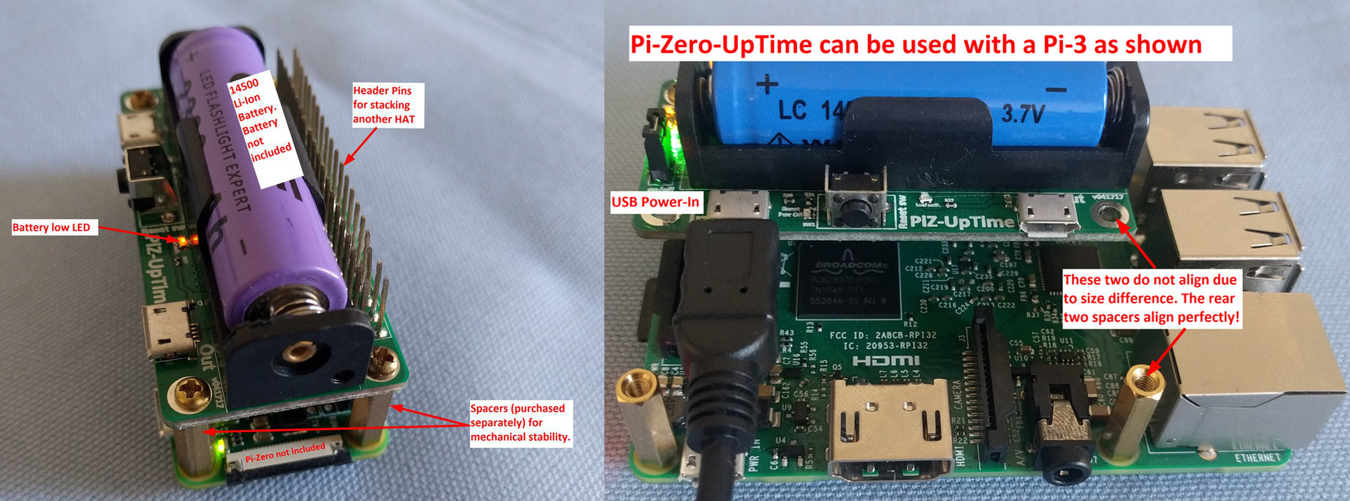 Pi-Zero-UpTime is an UPS for Raspberry Pi Boards and Clones