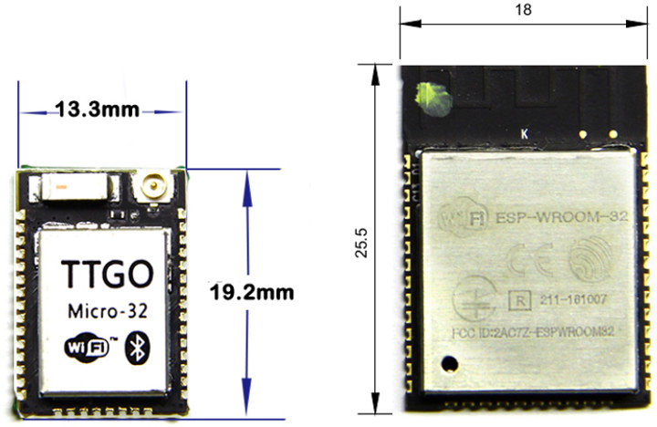 TTGO Micro-32 vs ESP32-WROOM-32