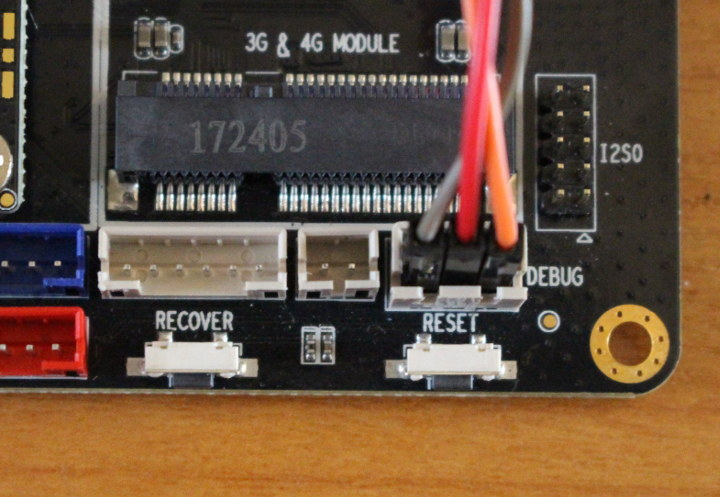 AIO-3399J Reset & Recovery Buttons, Debug Header