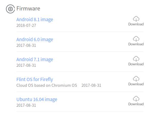 Firefly RK3399 Android, Ubuntu, Chromium OS