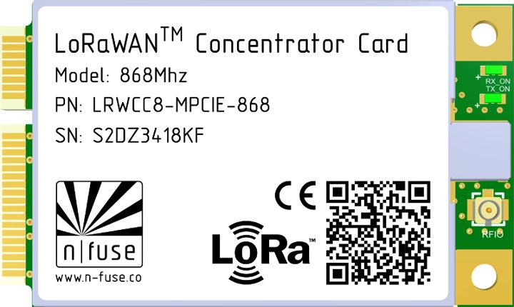 LoRaWAN Concentrator mini PCIe Card