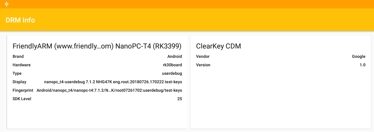 NanoPC-T4 DRM Info