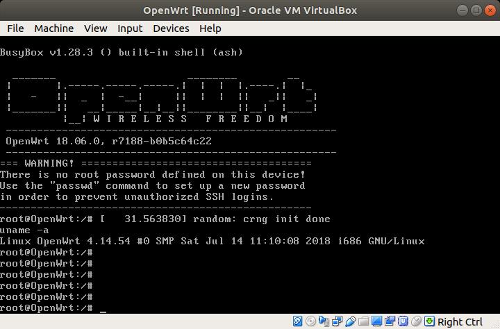 OpenWrt 18.06