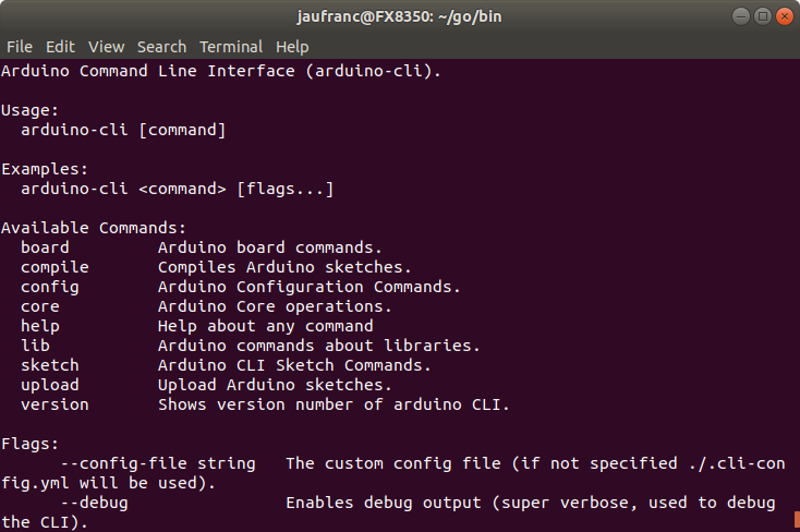 Arduino Releases Command Line Interface (CLI) Alpha Preview