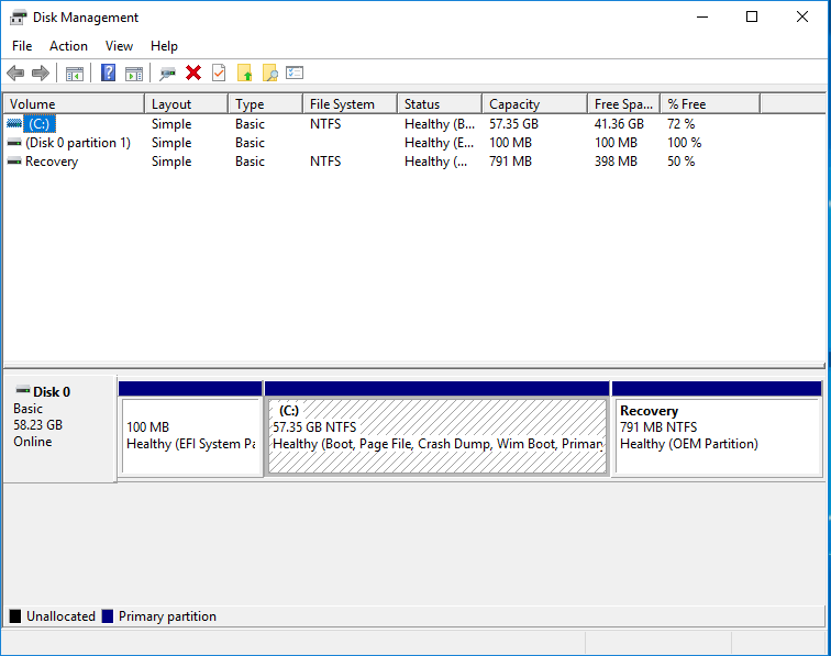 Beelink X45 Windows disk management