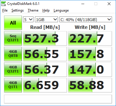 MINIX NEO J50C-4 CrystalDiskMark SSD