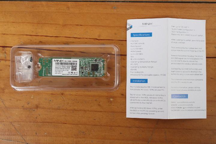 MINIX NEO J50C-4 M.2 SSD 설치 지침