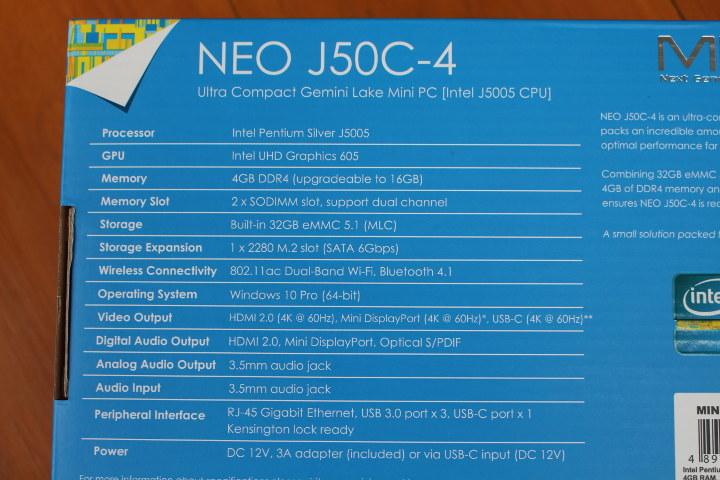 NEO J50C-4 Specifications