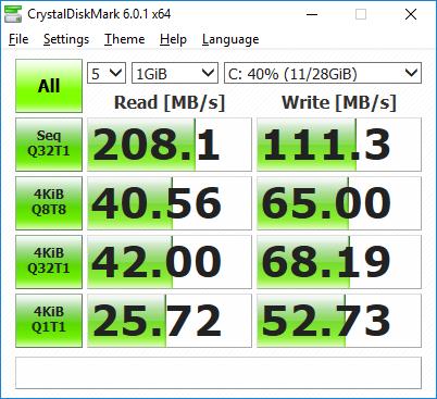 crystaldiskmark emmc MINIX-NEO-J50C-4