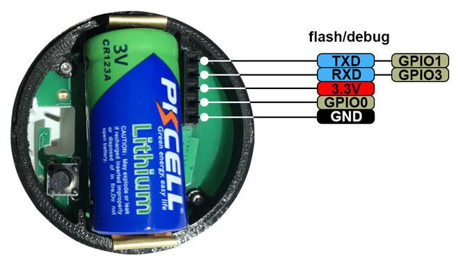 Battery ESP8266 Sensor