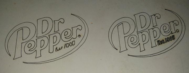 Dr Pepper Laser Cut