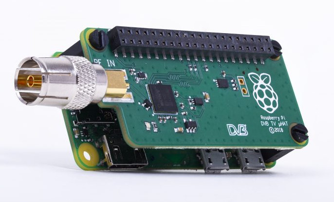Raspberry Pi TV HAT Adds a DVB-T2 Tuner to Raspberry Pi Boards