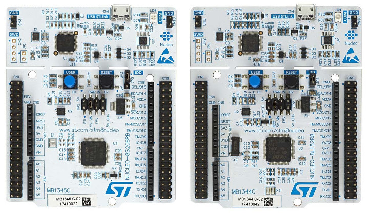 STM8 Nucleo-64 Boards