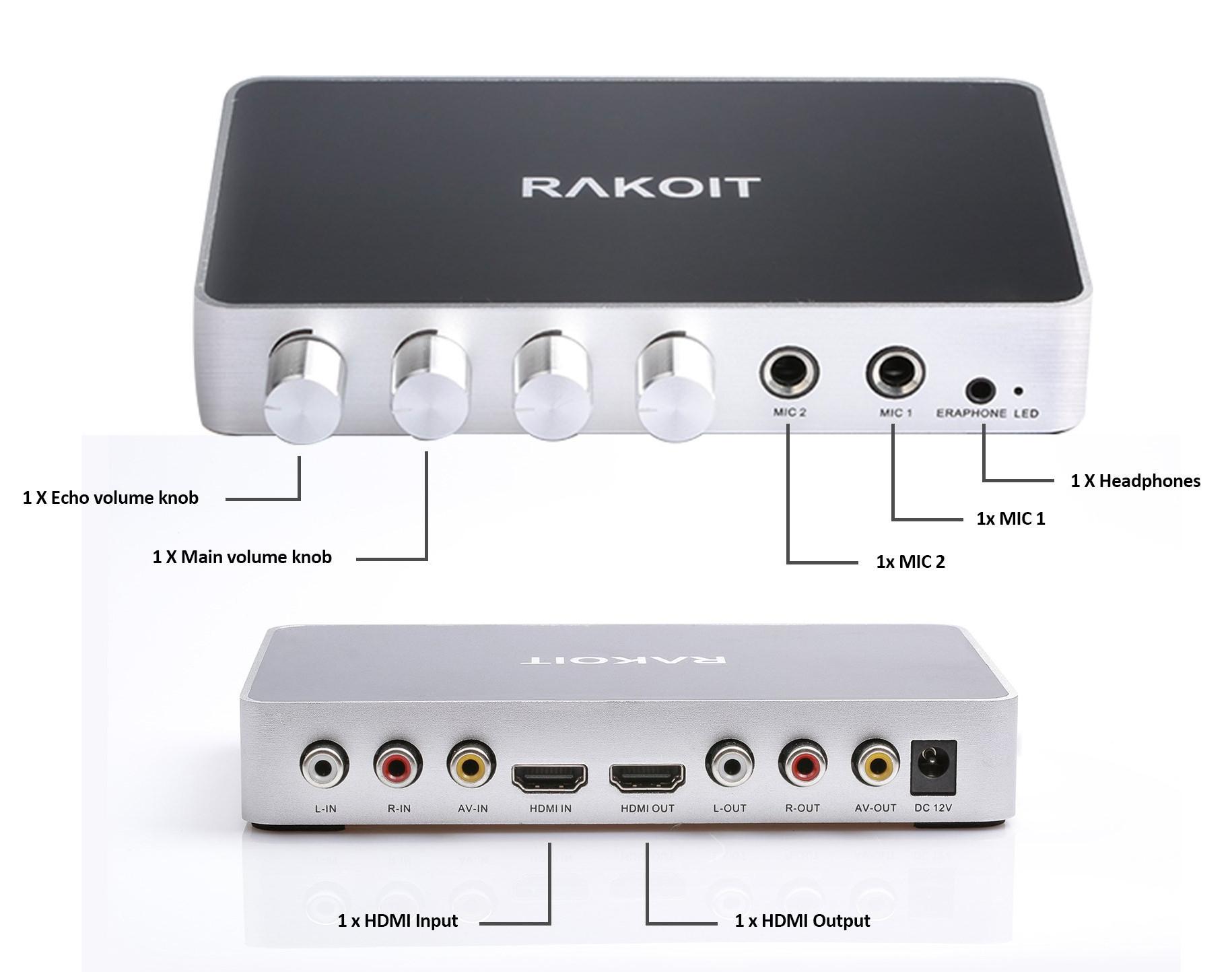 Rakoit Km200 Karaoke Audio Mixer Supports 4k Videos