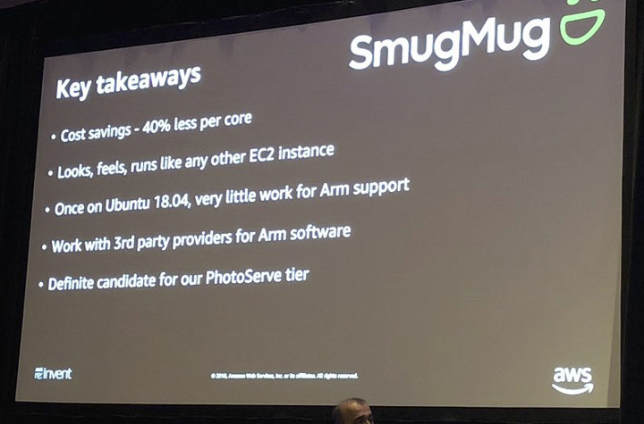 SmugMug amazon arm cost savings
