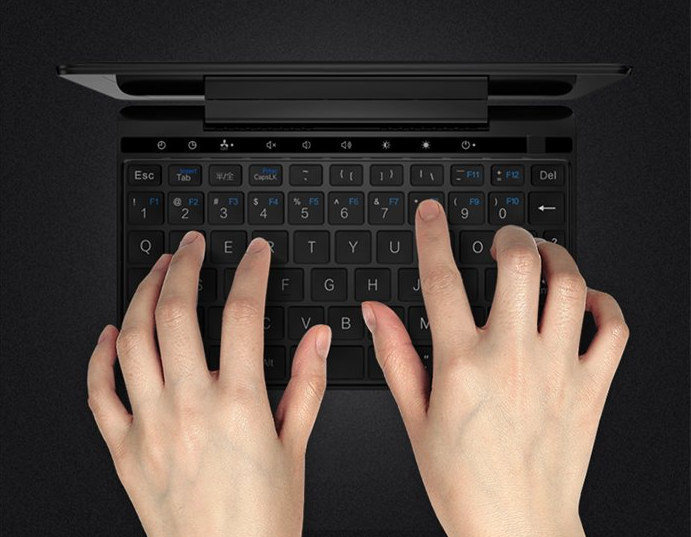 GPD Pocket 2 Amber Black Keyboard