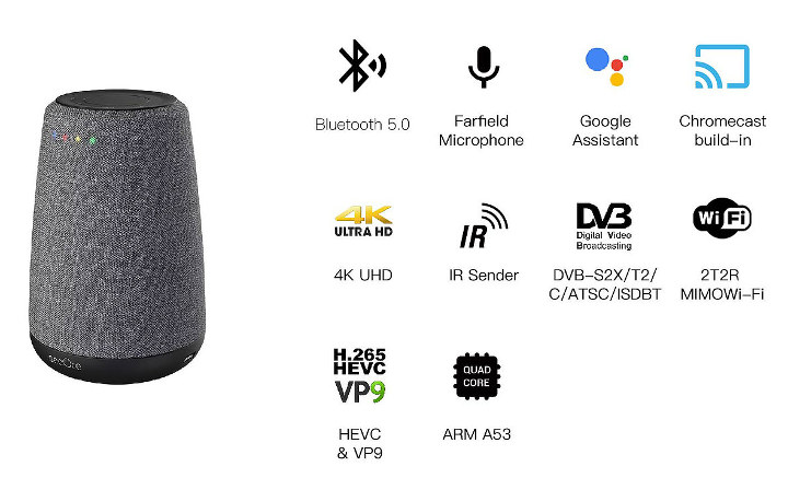 Android TV Smart Speaker Hybrid Set-Top-Box