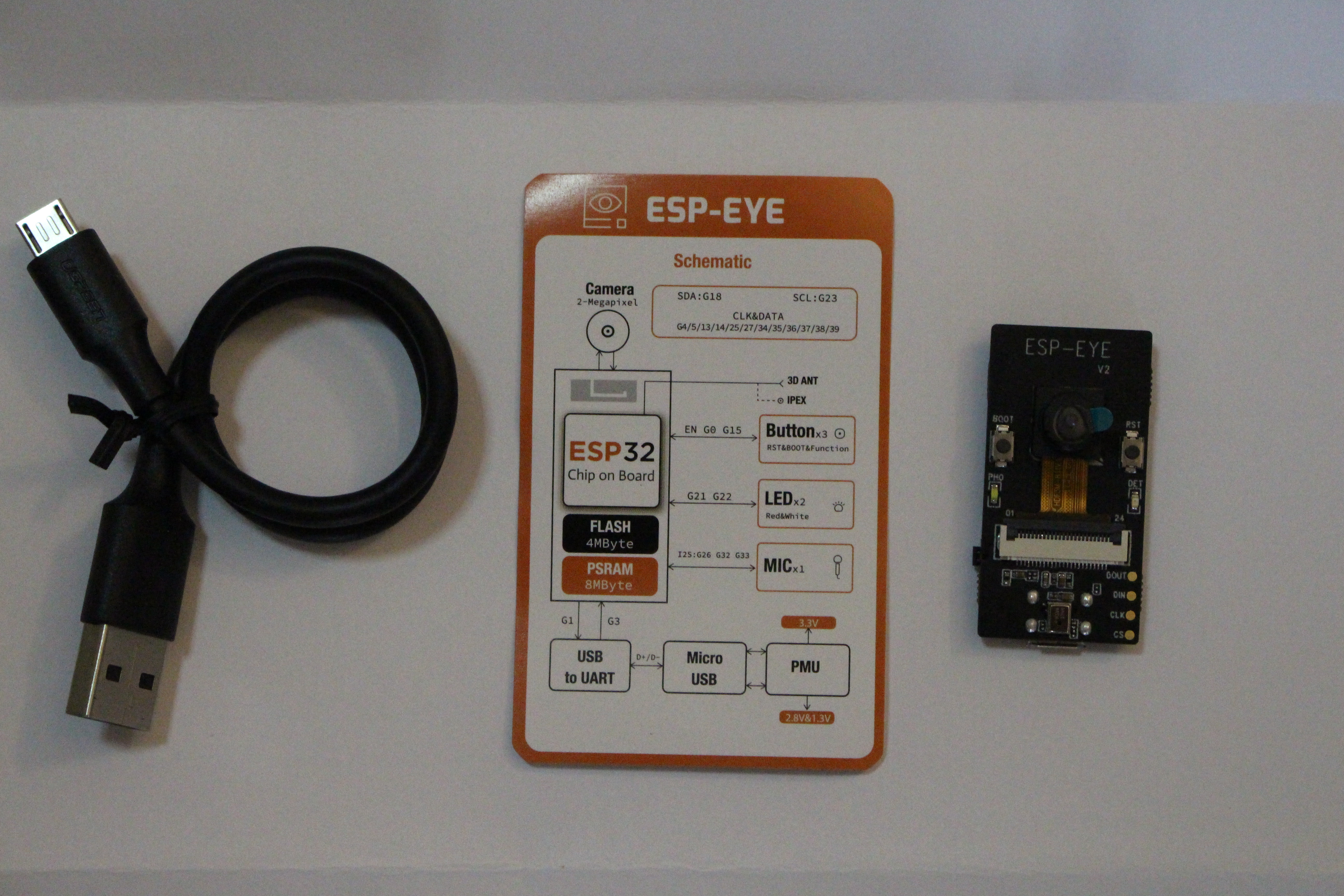 ESP-EYE ESP32 AI Development Board Supports Face detection