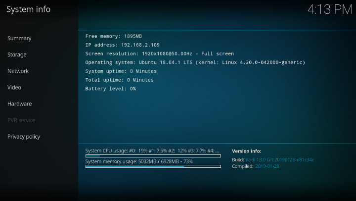 Kodi 18 Ubuntu