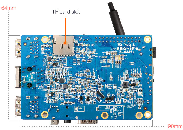 Orange Pi 3 Allwinner H6 SBC Comes with GbE, USB 3 0, mPCIe