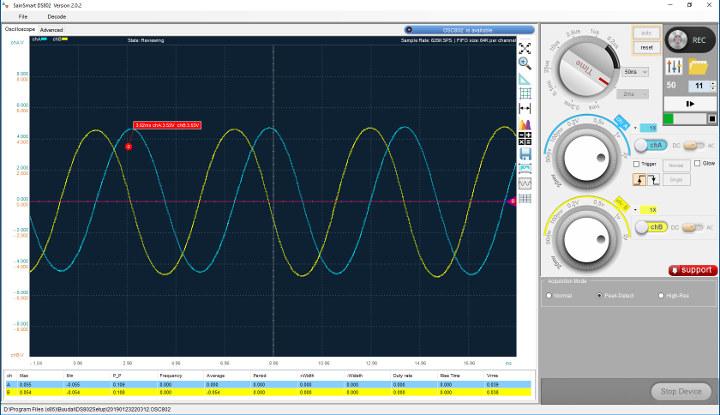 Oscilloscope-3D-Printer-2-probes--stepper-hand-spin