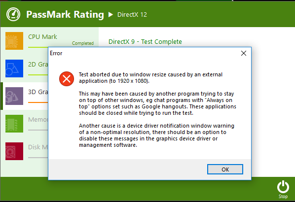 PassMark Rating Fails