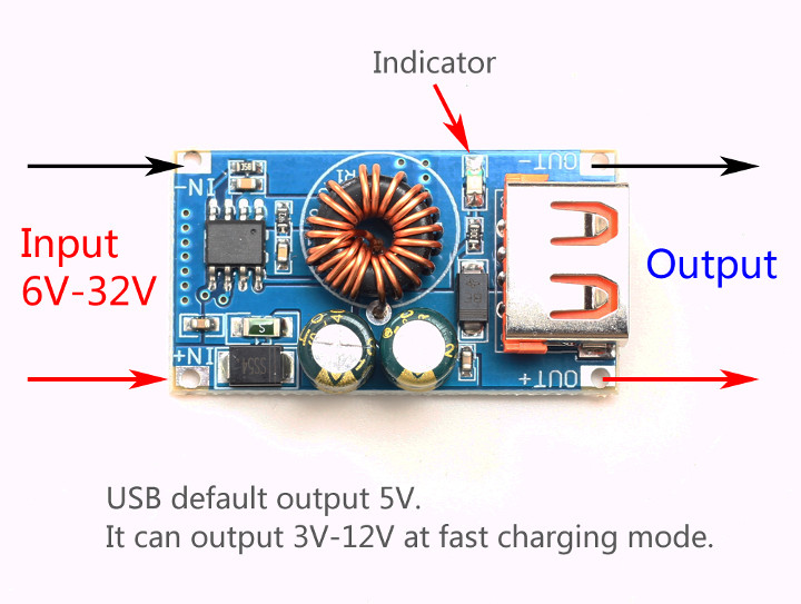 QC-MINI USB Fast Charging Board