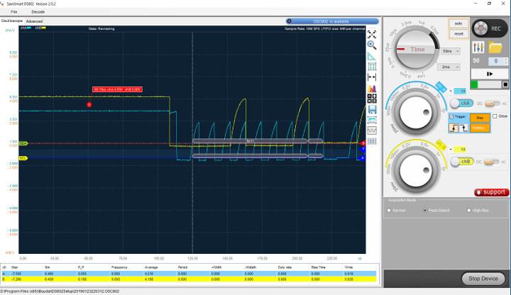 SainSmart DS802 Oscilloscope Arduino I2C Decoding