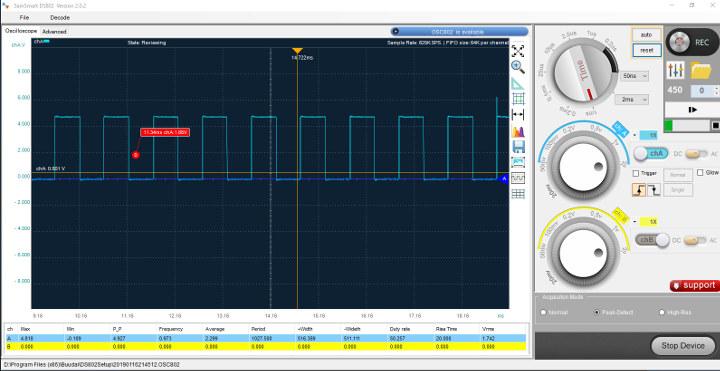 SainSmart DS802 square signal