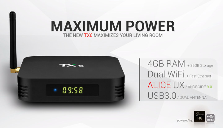 Tanix TX6 Allwinner H6 TV Box Gets Android 9 0 Firmware