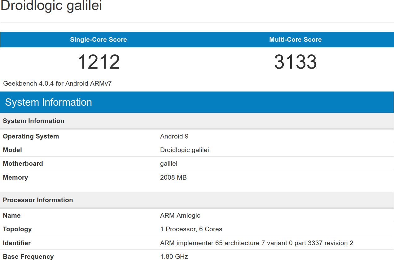 Amlogic S922X Benchmarks