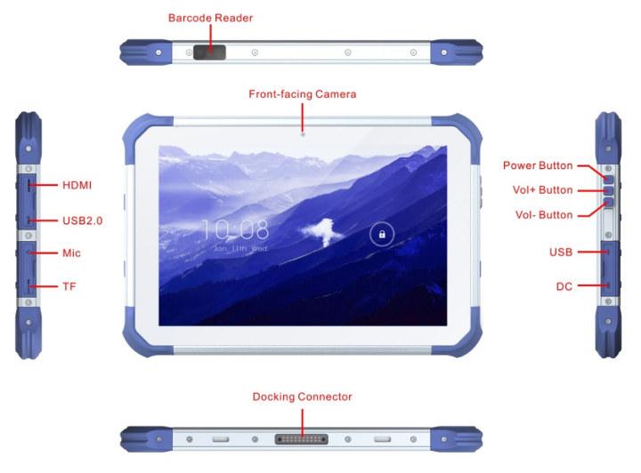RK3399 Rugged Tablet Barcode Reader