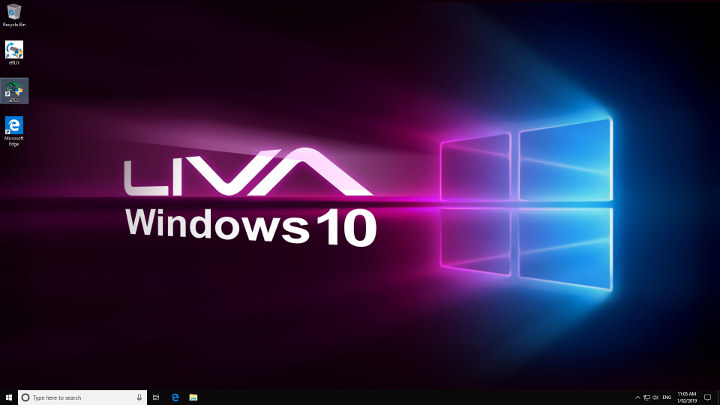 Windows 10 Desktop LIVA Q2 initial boot