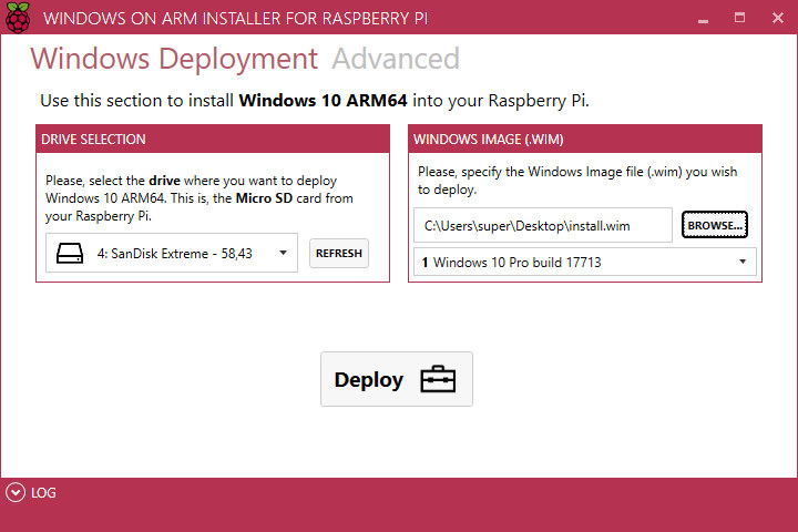 Windows on Arm Raspberry Pi 3