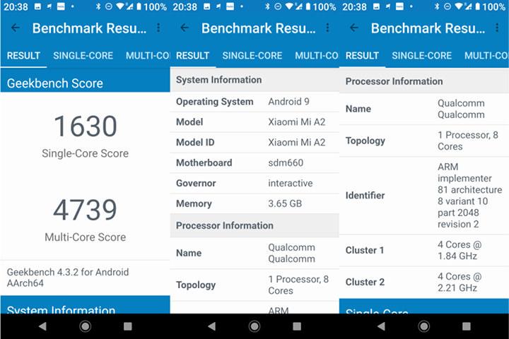 Xiaomi Mi A2 GeekBench 4