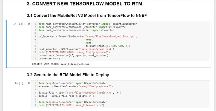 Convert model tensorflow runtime to NNEF