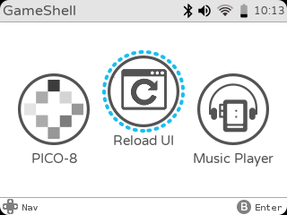 gameshell-home-pico-8-reload-ui-music-player